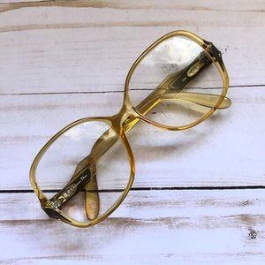 Vintage Dior eyeglasses amber